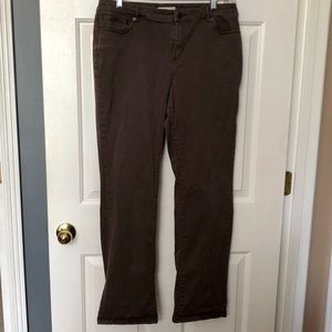Coldwater Creek Natural Fit Brown Jeans